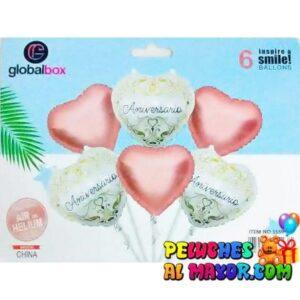 Bouquet FA Corazones 6 piezas