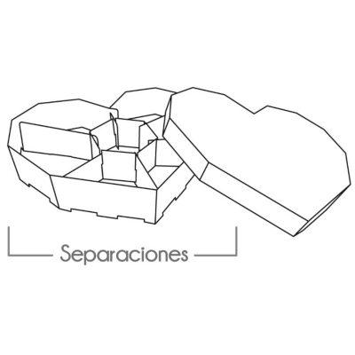 Cajas Canelo Corazon x6 U
