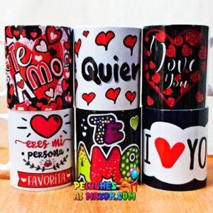 Tazas Amor Surtidas #1 x6 unid