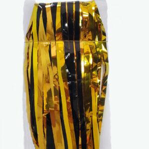 Cortinas Negro-Dorado Brillante