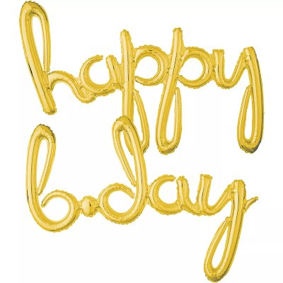 Happy B-Day. Curvo Blister Dorado