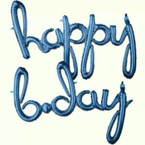 Happy B-Day. Curvo Blister Azul