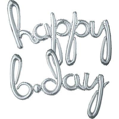 Happy B-Day. Curvo Blister Plateado