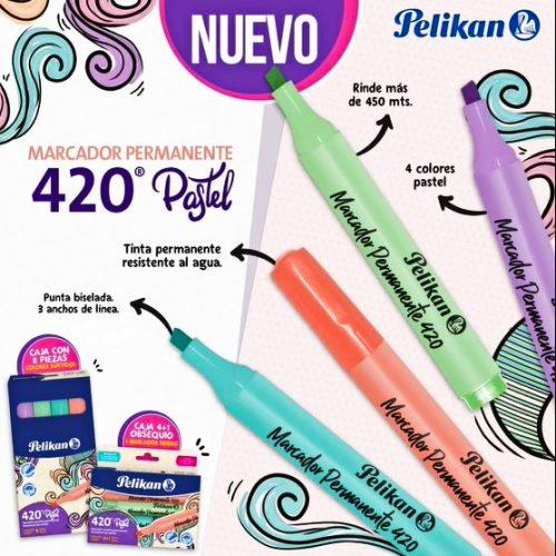 Marcador Pelikan Pastel 420