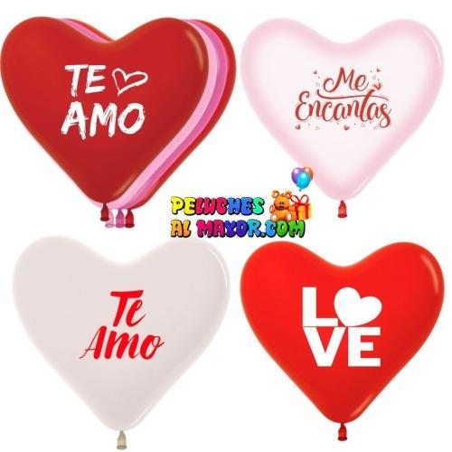 Latex R12 Corazones Amor Surtido x50 unid