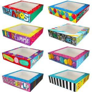 Cajas Canelo Bombonera Cumple x8 unid