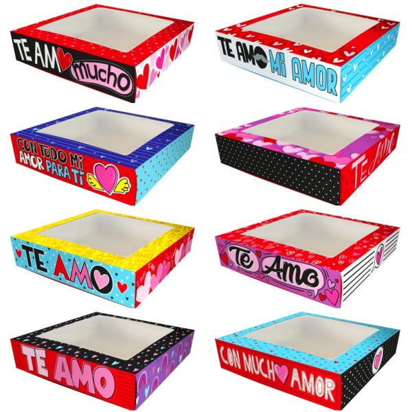 Cajas Canelo Bombonera Amor x8 unid