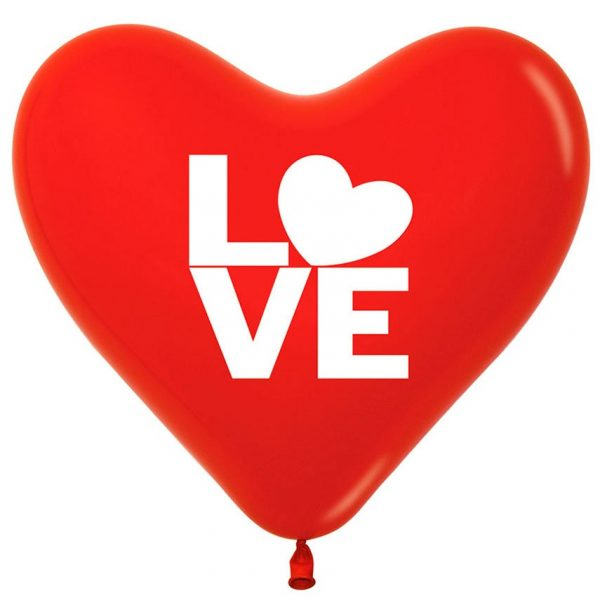 Latex R12 Corazon Love F-Rojo X25