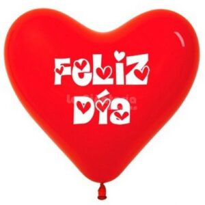 Latex R12 Corazon Feliz Dia Rojo X25