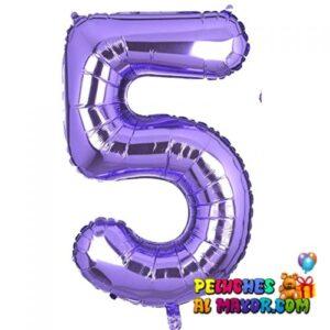 "8"" Numero Morado #5"