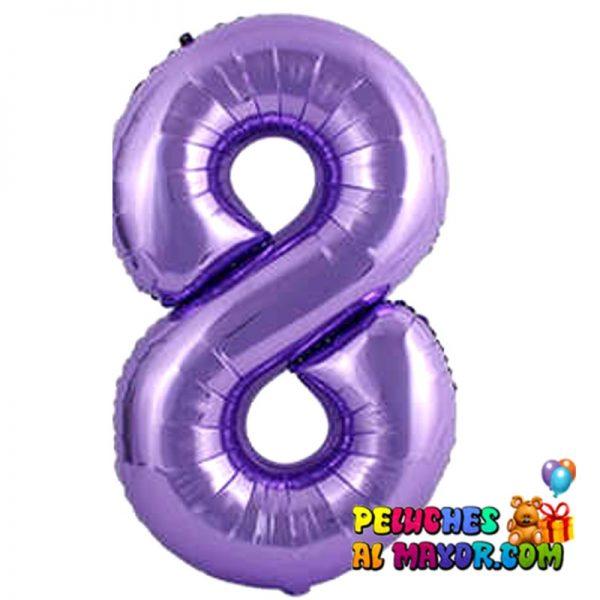 "8"" Numero Morado #8"