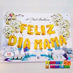 "16"" L/Feliz Dia Mamá Dorado Blister"