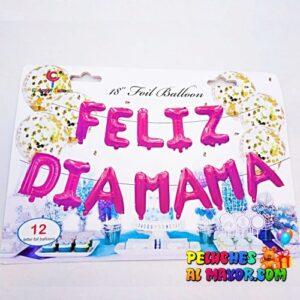 "16"" L/Feliz Dia Mamá Fucsia Blister"