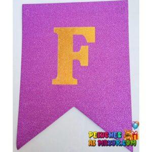 Banderin Peq FC Escarchado Fucsia