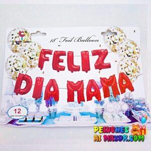 "16"" L/Feliz Dia Mamá Rojo Blister"