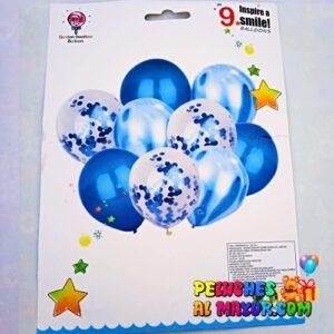 Set Latex Azul 9 Piezas