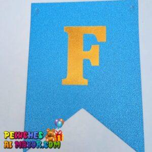 Banderin Peq FC Escarchado Azul