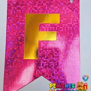 Banderin Peq FC Holografico Fucsia