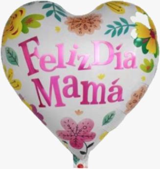 """18"""" Corazon Flores FD Mamá"""