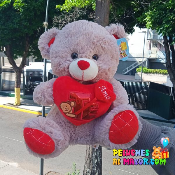 Oso AP3-2663-2 Gris Coraz Rojo