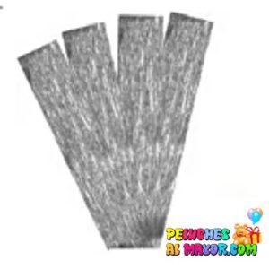 papel crepe plateado perlado