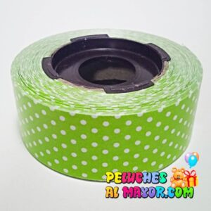 Cinta 30mm Polka Verde Claro 25m