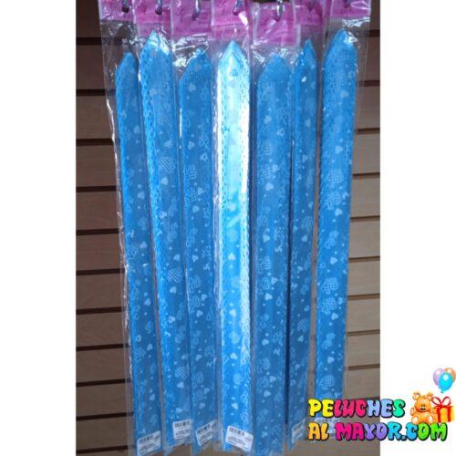 Lazo FACIL Grande #9 Azul Coraz. x10 unid