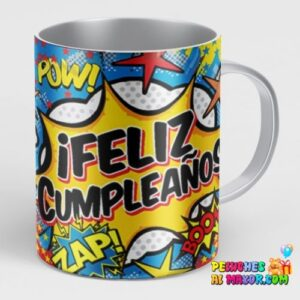 Taza Feliz Cumpleaños Comics