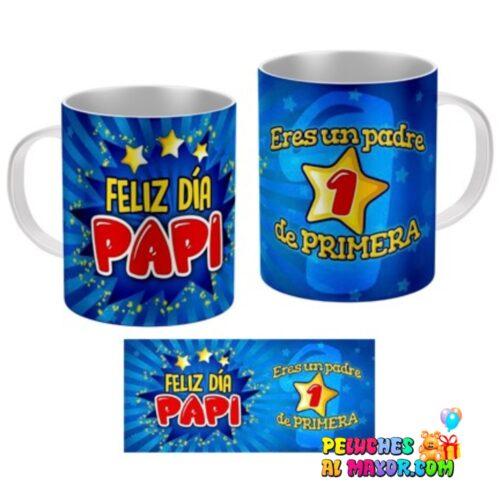 """Taza padre """"Padre de primera azul"""""""