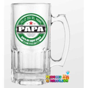 """Jarra padre Heineken """" para un super papa"""""""
