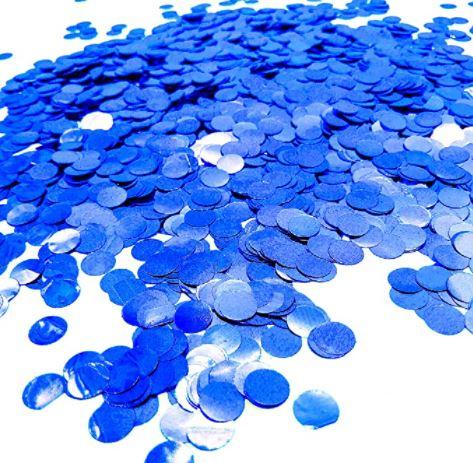 confetti azul