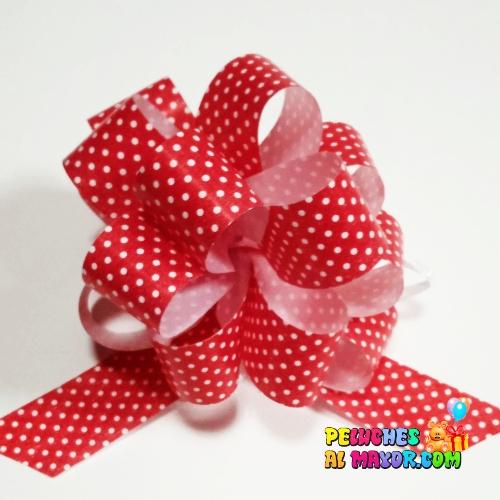 Lazo Pompom Rojo polka #9