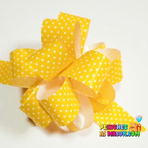 Lazo Pompom Amarillo polka #9