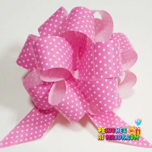 Lazo Pompom Rosado polka #9