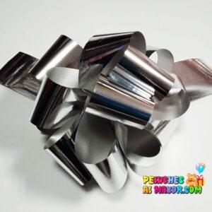 Lazo Pompon Metal. Plateado #9