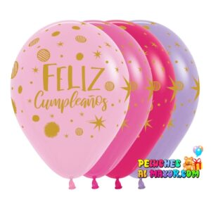 Latex R12. Feliz cumpleaños destellos x12