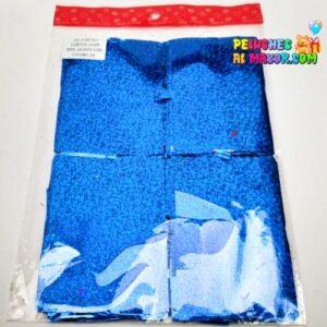Cortina Cuadros Holografica Azul