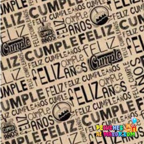 Papel de Regalo Feliz cumpleaños 3 x20 und