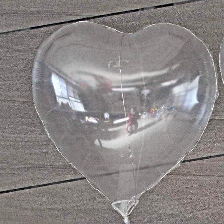"Burbuja 18"" Corazon Transparente"