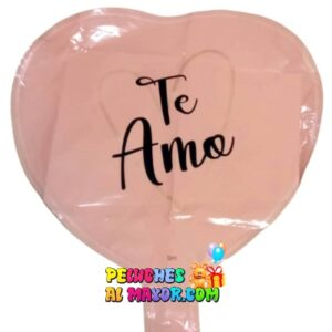 10'' Corazon Te Amo Rosa Vieja