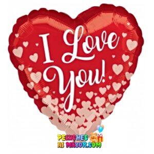 10'' Corazon Rojo ILY mini corazones Mod#11