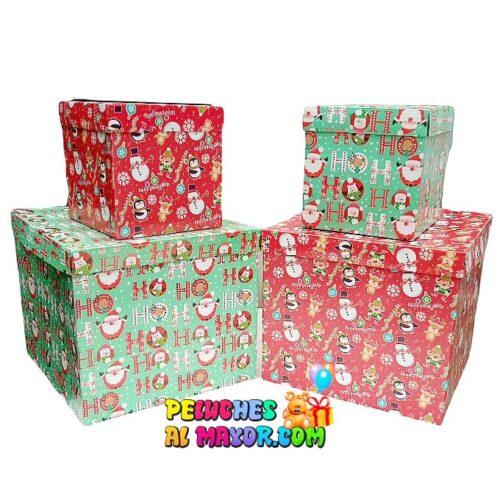 Caja Cubo 25x25 Navidad x4 unid