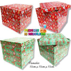 Caja Cubo 15x15 Navidad x4 unid
