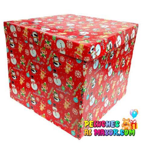 Caja Cubo 25x25 Navidad x4 unid rojo