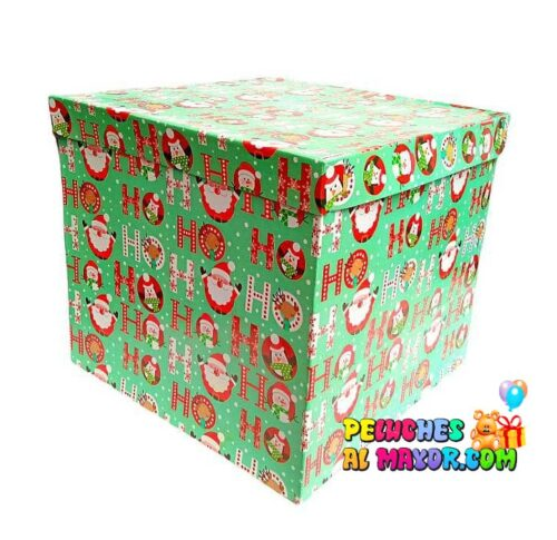 Caja Cubo 25x25 Navidad x4 unid VERDE