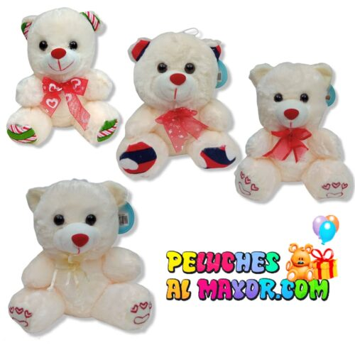 Peluches Pequeños osos conejos rosado blanco beige