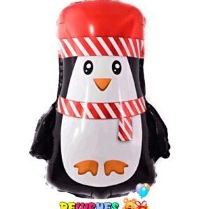 "14"" Pinguino feliz Navidad feliz año globo foil metalizado"