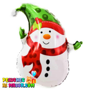 "14"" Muñeco de Nieve Gorro Verde 14"" Oso feliz navidad feliz año globo foil metalizado"