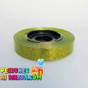 Cinta 15mm Holografico Verde Manzana x 25m