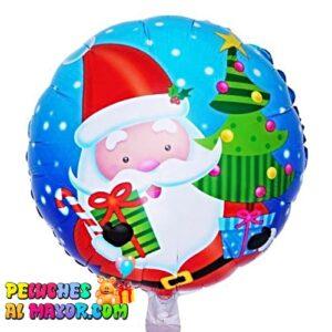 """18"""" Navidad Azul Santa, Regalos y Pino foil metalizado re"""
